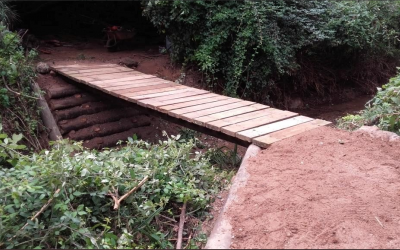 Un dels ponts del torrent després de les obres de reconstrucció | Ajuntament de Sabadell