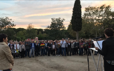 Moment de l'acte en homenatge a Lluís Companys | Roger Benet