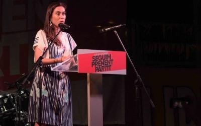 Txell Bonet en un acte a Sabadell | Roger Benet