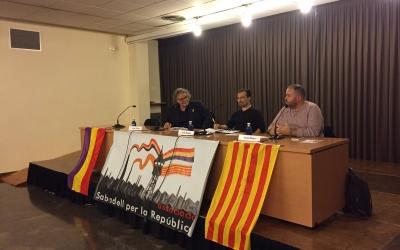 Tardà i Mena durant la conferència   Ràdio Sabadell