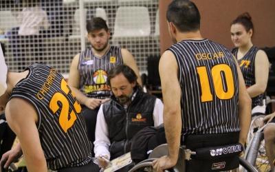 Óscar Trigo, entrenador del Global Basket | Adrián Arroyo