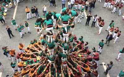 Els Saballuts durant la jornada castellera d'aquest diumenge | Helena Molist