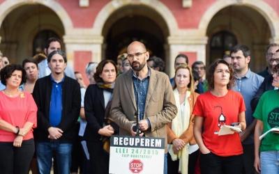 Maties Serracant durant l'acte d'aquest matí | Crida per Sabadell