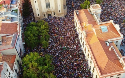 Imatge aèria de la mobilització del 3-O | Abel Peña