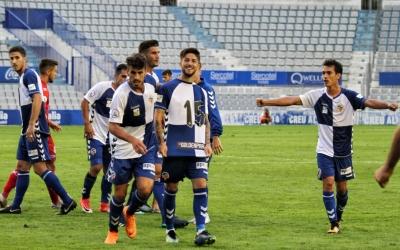 Celebració d'Antonio Domínguez després del 3-2   Sendy Dihör