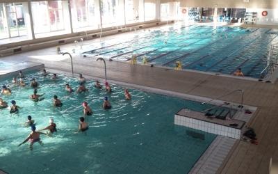 La piscina Joan Serra aquest matí | Pau Duran