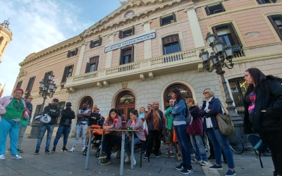 Roda de premsa de la PAH | Pere Gallifa