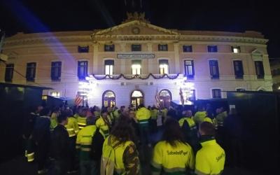 Treballadors d'SMATSA a les portes de l'Ajuntament | Pere Gallifa