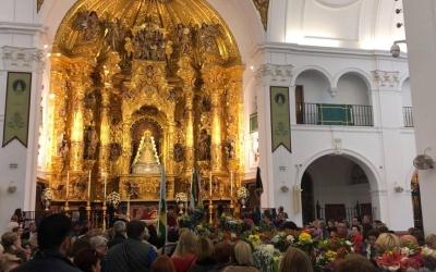 L'Hermandad deNuestraSeñoradelRociode Sabadell en la seva missa al Santuari de Huelva | Cedida