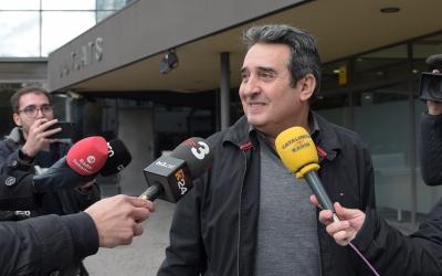 Manuel Bustos, a la sortida dels Jutjats de Sabadell/ Roger Benet