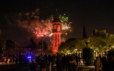 El castell de focs a la Torre de l'Aigua| Roger Benet