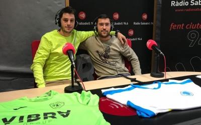 Oriol Comadran i Pep Girvent a l'estudi de Ràdio Sabadell | Marc Pijuan