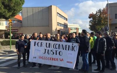 Imatge de la mobilització d'aquesta tarda al carrer Bocaccio | Ràdio Sabadell