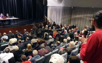 Imatge de l'assemblea de dissabte dels Comuns a Sabadell | Cedida