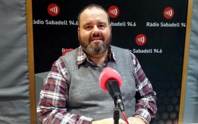 Joan Mena aquest matí als estudis de Ràdio Sabadell