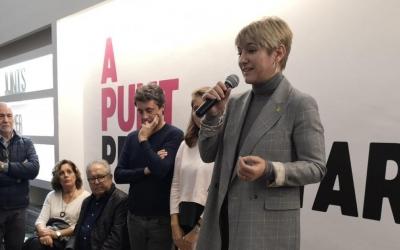 Lourdes Ciuró durant l'acte | Cedida