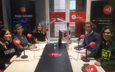 Els membres de l'expedició avui durant la tertúlia a Ràdio Sabadell | Pau Duran