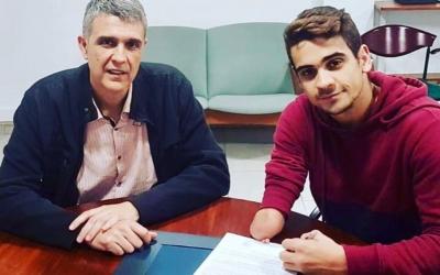 Claudi Martí i Óscar Salguero, en el moment de la renovació | CNS