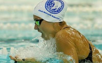 Corró, nedant una de les proves d'estils de l'Estatal | RFEN