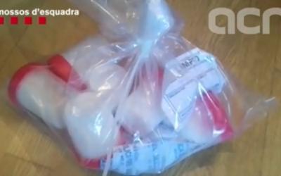 Imatge de les pastilles decomissades al domicili del detingut | ACN