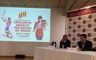 Jordi Andreu (Cercle) i Jordi Tamayo (FCT) en la presentació del Campionat | Marc Pijuan