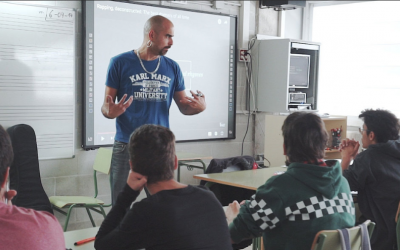 Pau Llonch impartint el seu projecte | Cedida