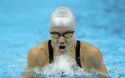 Corró, nedant una de les proves a la Xina | Getty