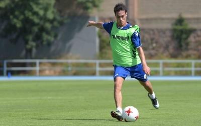 Josu Ozkoidi durant un entrenament d'aquesta temporada a Sant Oleguer | Roger Benet