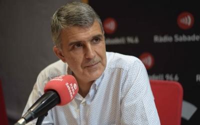 Claudi Martí, en una entrevista anterior, als estudis de Ràdio Sabadell | Roger Benet