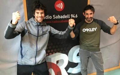 Jordi Cruz i Aleix Muñío avui als estudis de Ràdio Sabadell | Adrián Arroyo