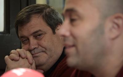 Ramon Vidal i Joan Berlanga en una roda de premsa d'Unitat pel Canvi, la formació amb la que van concórrer a les eleccions de 2015 | Roger Benet