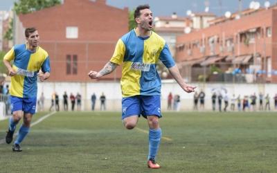 L'autor del gol de l'ascens, Ángel Gil, ha deixat enrere la lesió patida | Roger Benet