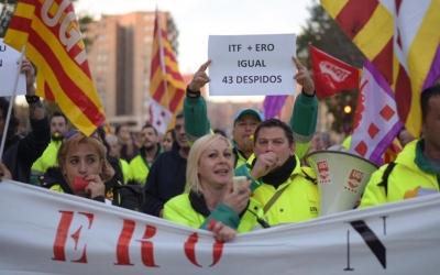 Treballadors d'Smatsa manifestant-se el passat dijous | Roger Benet