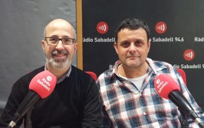 Joanjo Ríos, pare del centre i president de l'AMPA fins l'any passat i Jordi Fontova, director de l'escola | Pau Duran