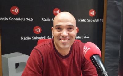 Joan Berlanga als estudis de Ràdio Sabadell | Pau Duran