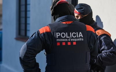 Imatge dels agents de Mossos d'Esquadra | Roger Benet