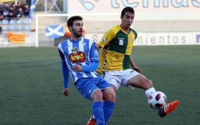 Capó, en el darrer partit disputat a Ejea | Toni Torrano
