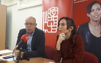 Zaragoza i Farrés, en roda de premsa/ Karen Madrid