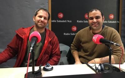 Pau Estartús i Christian Garcia aquest matí a Ràdio Sabadell   Mireia Sans