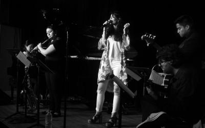 Fayos durant un recital a Berklee | Cedida