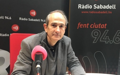Josep Milà durant l'entrevista a Ràdio Sabadell | Mireia Sans