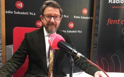 El degà del Col·legi d'Advocats, Manolo Hernández, aquest matí a Ràdio Sabadell |Mireia Sans