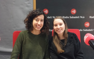 Salas i Font, als estudis de Ràdio Sabadell/ Pau Duran