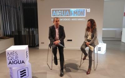 Joan Cristià i Elisabeth Santacruz presentat la tercera edició d'Aigua i Món | Pere Gallifa