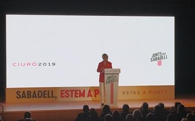 Lourdes Ciuró en l'acte de presentació del seu projecte de ciutat   Sergi Garcés