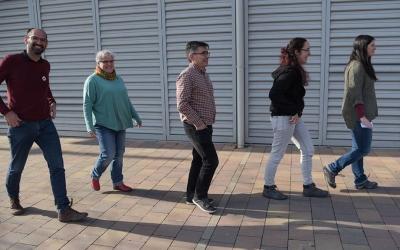 D'esquerra a dreta, Maties Serracant, Nani Valero, Lluís Perarnau, Anna Lara i Aurora Murillo  Roger Benet