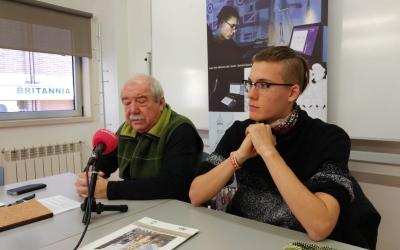 Manuel Navas i Gerard Garcia presentant el còmic de la FAV   Pere Gallifa