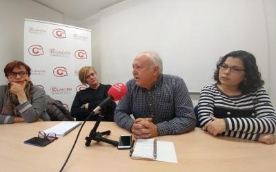 D'esquerra a dreta, la Dra. Montserrat Bosque, Marisol Martínez, Dr. Sebas Gallardo i Laura Tribes | Pere Gallifa