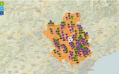 El mapa interactiu elaborat pel Consell
