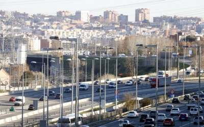 Imatge de la C-58 a l'entrada de Barcelona/ ACN